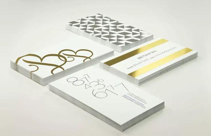 визитки с фольгированием